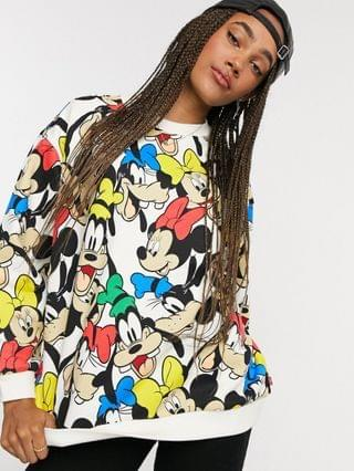 WOMEN Levi's X Disney Minnie mouse and friends sweatshirt in multi