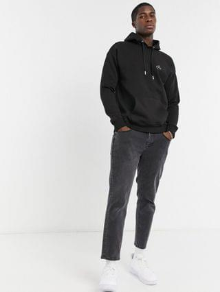 New Look hoodie with embroidered NLM in black