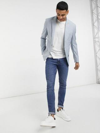 New Look skinny suit jacket in pale blue
