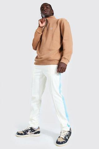 MEN Oversized Half Zip Dove Tricot Tracksuit