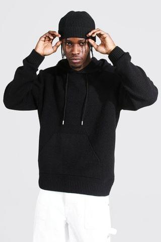 MEN Knitted Over The Head Hoodie