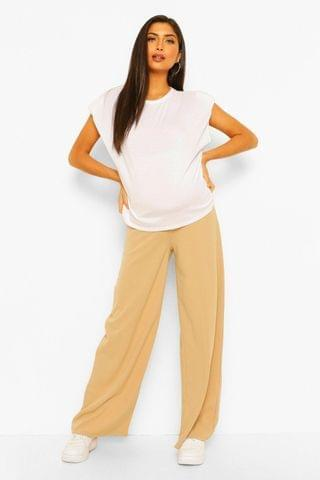 WOMEN Maternity Wide Leg Over The Bump Trouser