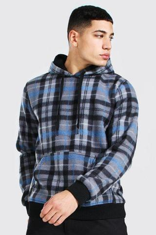 MEN Check Over The Head Hoodie