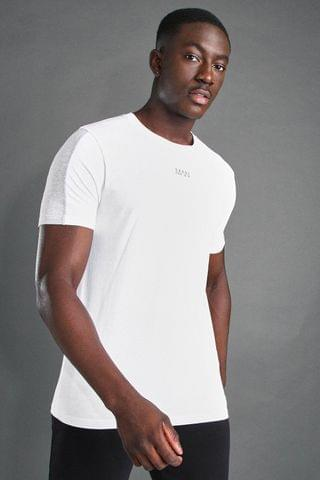 MEN Active S/S T-Shirt With Sleeve Panel