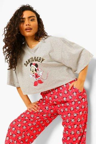 WOMEN Disney Minnie Santa Baby PJ Set