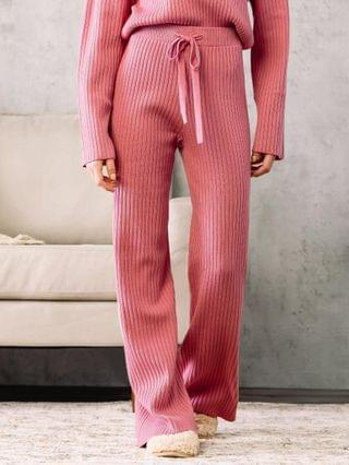 WOMEN Fade by BKE Ribbed Wide Leg Pant