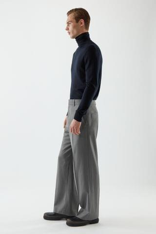 MEN LONG WIDE-LEG PANTS