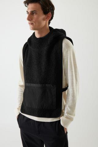 MEN TEDDY HOODED HYBRID VEST