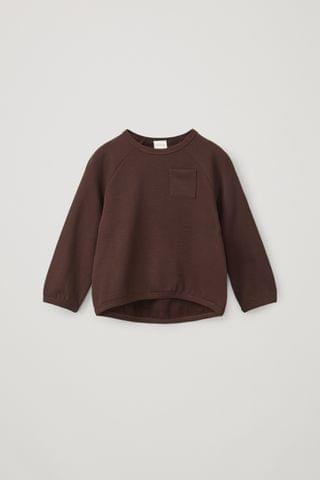 KIDSS ORGANIC COTTON ROUNDED SWEATSHIRT