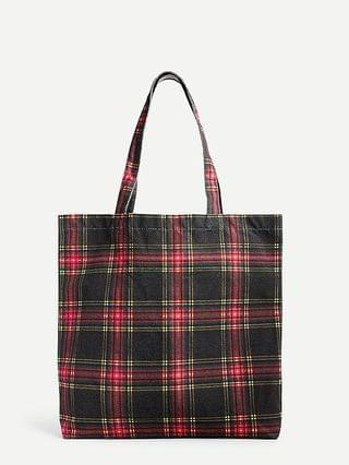 WOMEN Reusable everyday tote in Stewart tartan