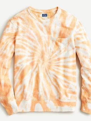 MEN Lightweight sunfaded french terry sweatshirt in tie-dye