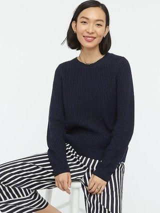 WOMEN Fisherman crewneck sweater in cotton-cashmere