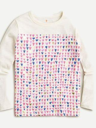 KIDS Kids' long-sleeve tiny hearts T-shirt