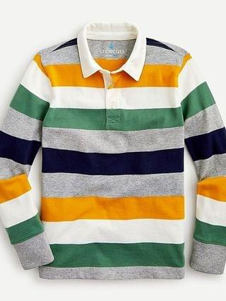 KIDS Kids' long-sleeve polo in earthy stripe