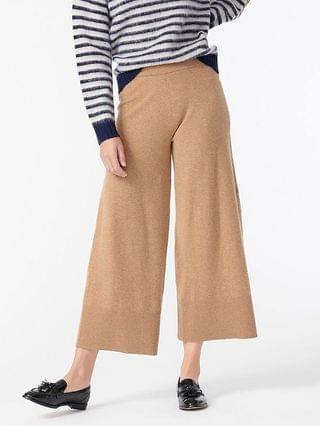 WOMEN Wide-leg sweatpant in featherweight cashmere