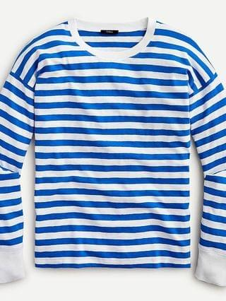 WOMEN Long-sleeve slub cotton T-shirt in stripe
