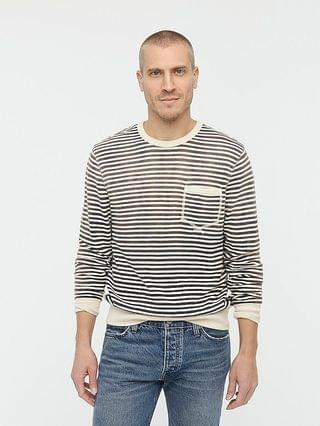 MEN Lightweight sunfaded french terry sweatshirt in stripe