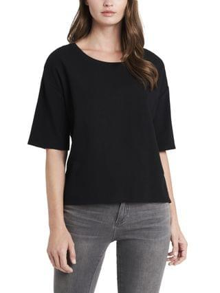WOMEN Elbow Sleeve French Terry Top