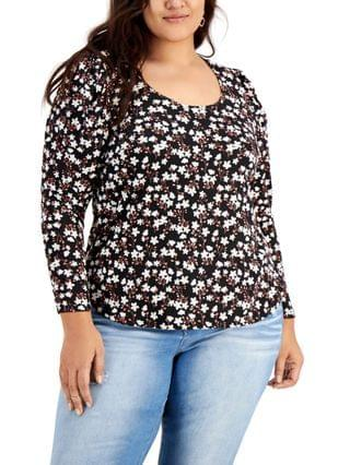 WOMEN Trendy Plus Size Ruched-Sleeve Top