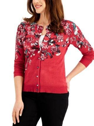 WOMEN Petite Floral-Print Cardigan, Created for Macy's