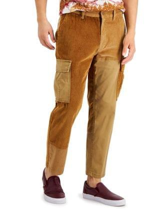 MEN Harry Relaxed-Fit Patchwork Pieced Colorblocked Corduroy Cargo Pants