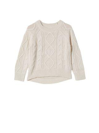 KIDS Little Girls Annie Cable Knit Jumper Sweater