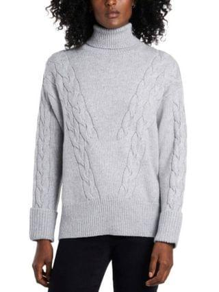 WOMEN Cable Stitch Turtleneck Sweater