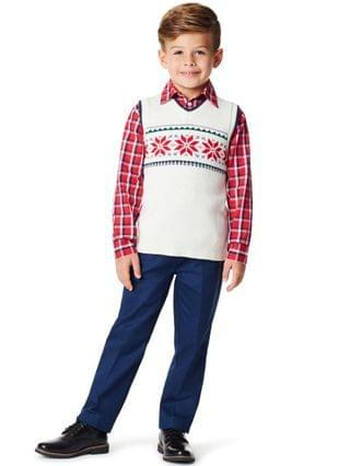 KIDS Toddler Boys Snowflake 3 Piece Sweater Set