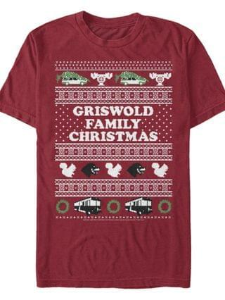 MEN National Lampoon Christmas Vacation Griswold Short Sleeve T-shirt