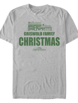 MEN National Lampoon Vacation Griswold Family Christmas Short Sleeve T-shirt