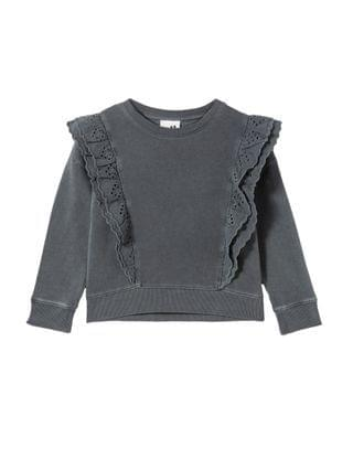 KIDS Big Girls Fenella Frill Crew Sweater