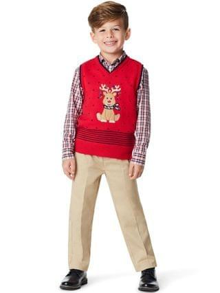 KIDS Toddler Boys Holiday Deer 3 Piece Sweater Set