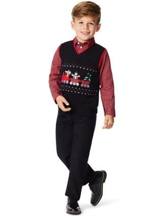 KIDS Toddler Boys Holiday Train 3 Piece Sweater Set