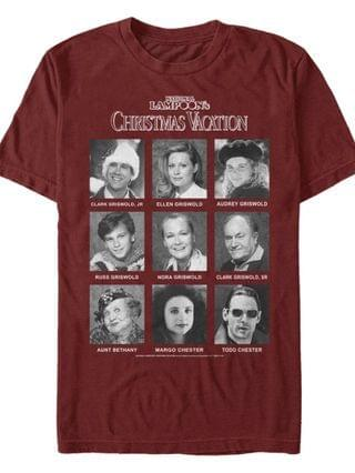 MEN National Lampoon Christmas Vacation Family Yearbook Short Sleeve T-shirt