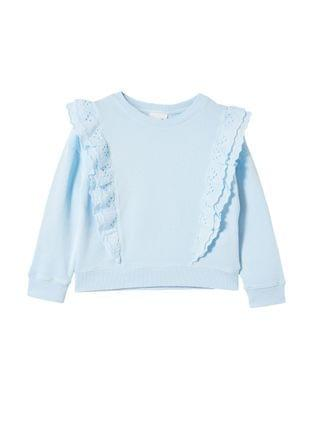KIDS Little Girls Fenella Frill Crew Sweater