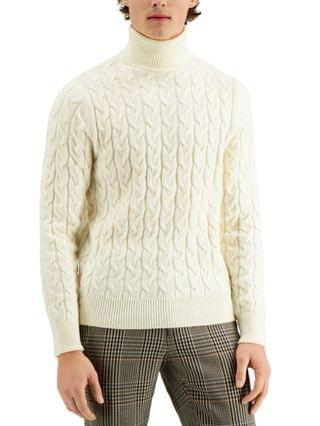 MEN Limited Edition Chunky Cable Turtleneck Sweater