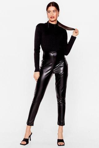 WOMEN In the Tight Direction Faux Leather Leggings