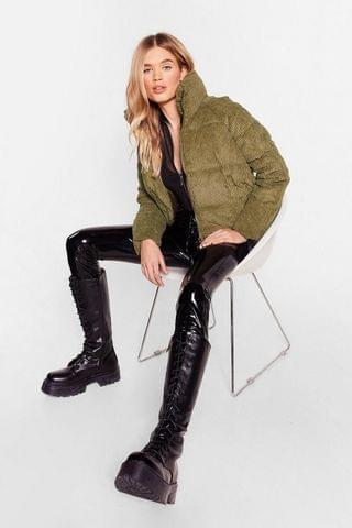 WOMEN Ac-cord-ing to Our Sources Relaxed Padded Jacket