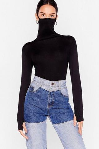 WOMEN Hey What's Up Face Mask Bodysuit