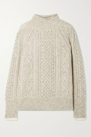 WOMEN ALEX MILL Camil cable-knit m lange wool-blend sweater