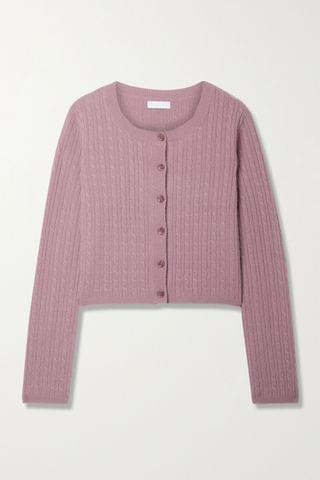 WOMEN SABLYN Cleo cable-knit cashmere cardigan