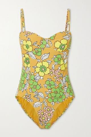 WOMEN TORY BURCH Floral-print underwired swimsuit
