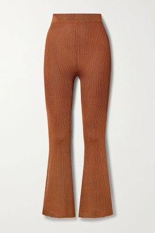 WOMEN Calle Del Mar + NET SUSTAIN ribbed-knit flared pants