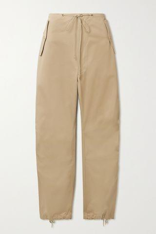 WOMEN DION LEE Cotton-twill tapered pants