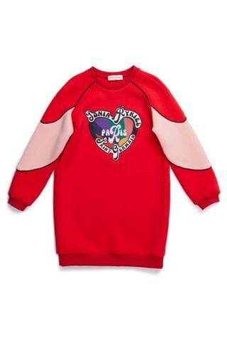 KIDS Sonia Rykiel Red Heart Sweatshirt Dress