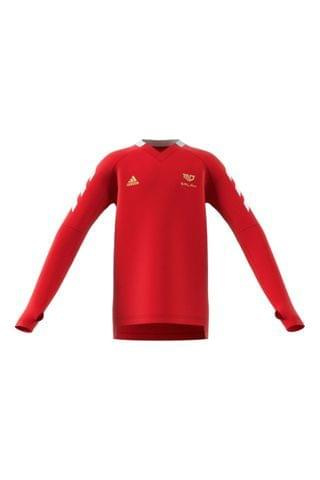 KIDS adidas Red Salah Long Sleeve Jersey Top