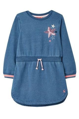 KIDS Joules Blue Millie Sweatshirt Dress