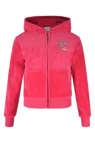 KIDS Juicy Couture Velour Zip Through Top