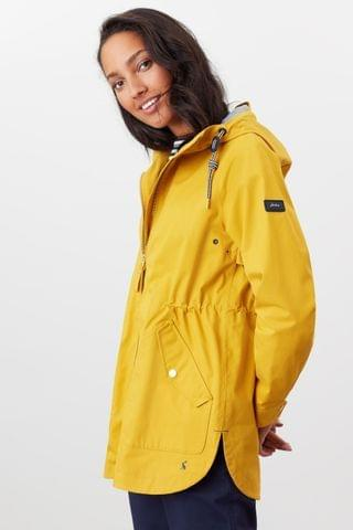 WOMEN Joules Yellow Mayport Coastal Waterproof A-Line Coat