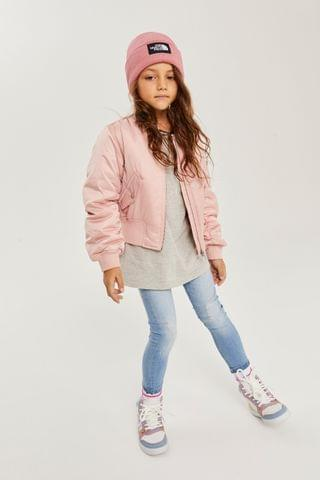 KIDS Pink Shower Resistant Bomber Jacket (2-16yrs)